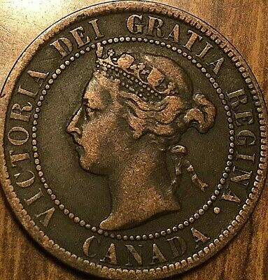 1893 Canada Large 1 Cent Penny