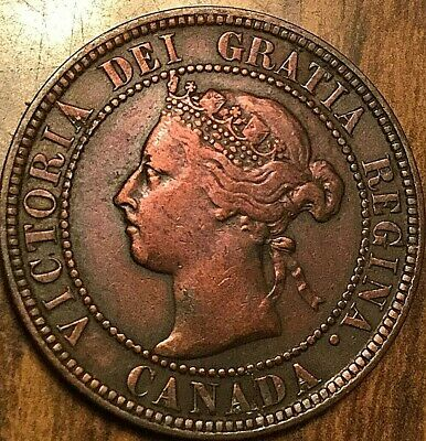 1896 Canada Large Cent Large 1 Cent Coin Penny