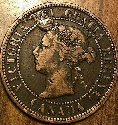 1898 H Canada Large Cent Large 1 Cent Coin Penny