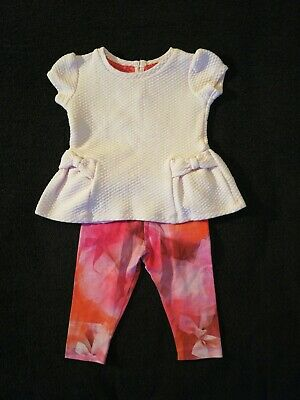 Girls Ted Baker Top And Leggings Outfit 3-6 Months