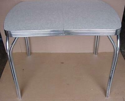 Vintage Mid Century Modern Formica Kitchen Table With Leaf 1950'S 1960'S
