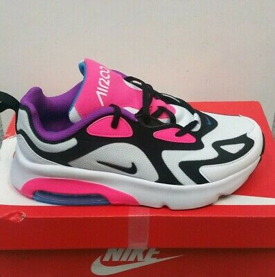 Nike Air Max 200 Ps Girls Trainers White / Black - Pink At5631100 Size Uk 2