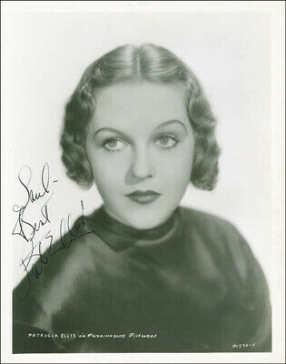 Patricia Ellis - Autographed Inscribed Photograph Circa 1937