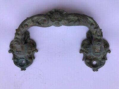 Vintage Drawer Pull Handle Antique Solid Brass Victorian Style