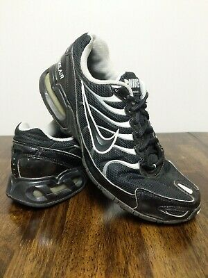 Nike Air Max Torch 4 Men's Size 10 Black & Silver Running Shoes - Fast Ship