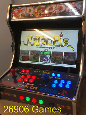2 Player Deluxe Bartop Arcade Machine With 26906 Games + 40+ Systems 256Gb
