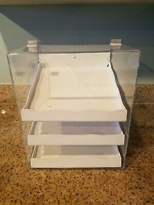 """Acrylic 3 Tier Cookie Pastry Display Drawer Case 13"""" Tall 3 Drawer"""