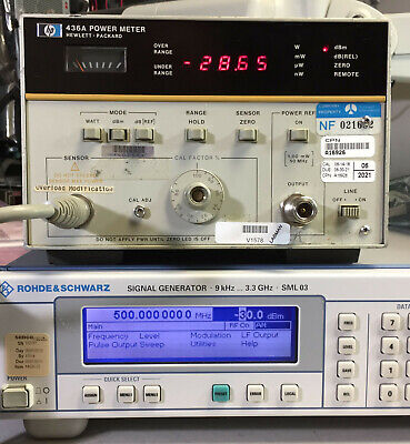 HP Agilent 436A Single Channel Power Meter