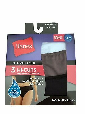 "Hanes Ultimate Women/'s Hipster 3-Pack 2XL-4XL /""Cotton Comfort TAGLESS/"" /""STRETCH/"""