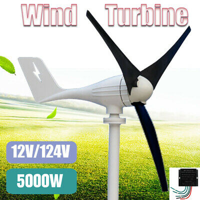 5000W  Max 12V/24V 3 Blades Power Wind Turbine Generator Charge Controller Home