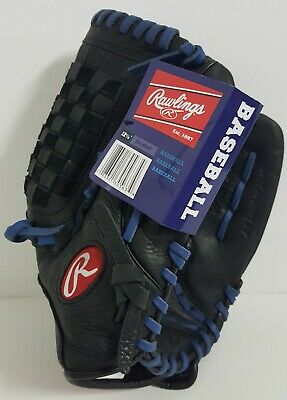 RAWLINGS WRS125 SELECT SERIES 12.5 In BASEBALL GLOVE BLACK BLUE RHT NEW WITH TAG