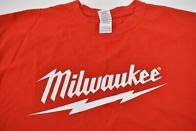 Red Milwaukee Electric Tool Logo Graphic T-Shirt, Size XL