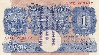 Peppiatt One Pound - Withdrawn From Circulation During Guernsey Occupation