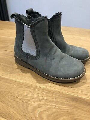 Next Girls Suede Chelsea Boots Size 11
