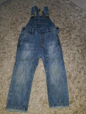 Next boys authentic denim blue dungarees, with pockets. Size 2-3 years