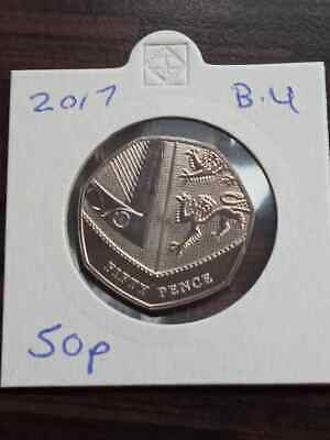 2017 Royal Mint Royal Shield of Arms BU 50p Fifty Pence Coin Uncirculated
