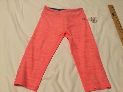 New RBX girls Capri leggings size small 7/8 coral pink