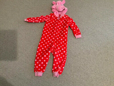 Peppa Pig Girls Fleece  One Piece Age  2-3 Marks & Spencer