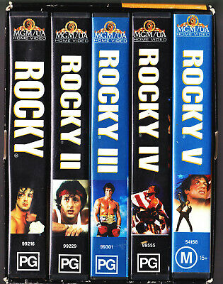 The Complete Rocky Collection 1-5 VHS Video Box Set 1995 Sylvester Stallone