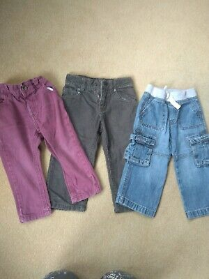 Boys Trousers cords combat Bundle Age 18-24 months age 2 slim fit skinny jeans