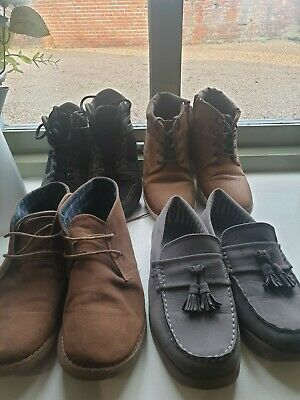 Boys Next/River Island /primark Shoes - youths Size 4 x size 5 Pairs -  job lot
