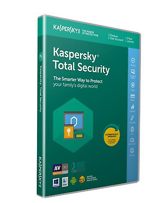 KASPERSKY TOTAL Security 2020/3Geräte/2 Jahre/ key Lizenz /Mac Windows Androide