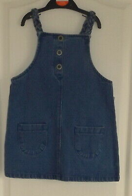 Brand New With Tags Denim Pinafore Dress Age 3 - 4 Years