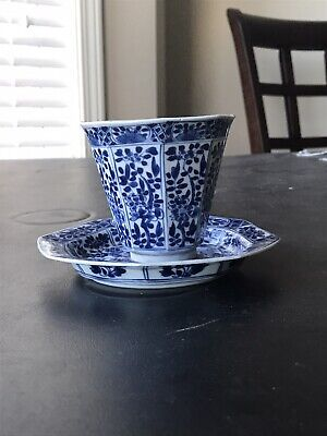 Antique China Export Blue And White high quality Porcelain Tea Cup Set