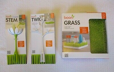 Boon Grass White Flower Stem & Twig New Sink Drying Rack for Baby