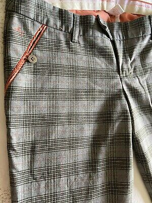 Abercrombie Fitch Size 8 Plaid Womens Ankle Pants Loe Rise/ Rare Find
