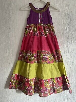 Floral Maxi Cotton Sun Dress Girls 9 Years Summer Towie Celeb Pretty Party Glam