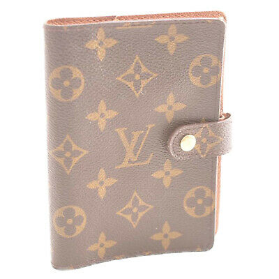 LOUIS VUITTON Monogram Agenda PM Day Planner Cover R20005 LV Auth kh169 **Sticky