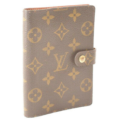 LOUIS VUITTON Monogram Agenda PM Day Planner Cover R20005 LV Auth cr386