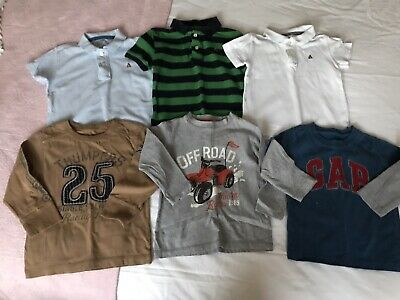 🌈 Gap Boys Polo Tops Long Sleeved Tops Bundle Aged 2 Years