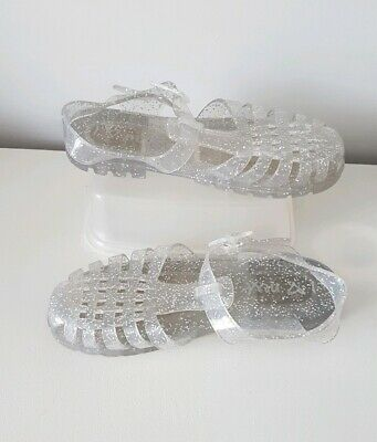 Juju At Next clear with Silver Glitter Jelly Shoes Uk 13 girls sandals kids