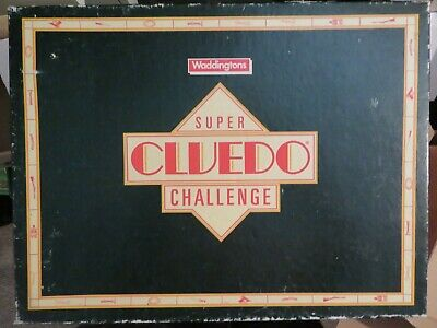 Vintage Super Cluedo Challenge board game - contents near mint