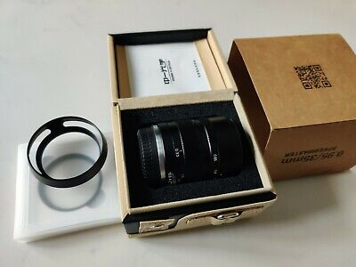 Mitakon Zhongyi Speedmaster 35mm f/0.95 Mark II Lens + UV filter + lens hood