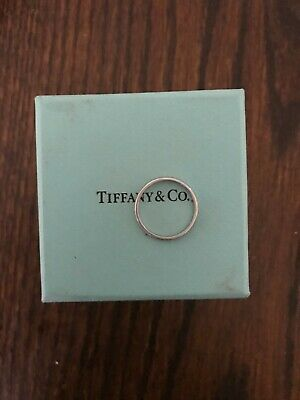 Tiffany & Co. Platinum Wedding Band Ring 2mm Pre Owned