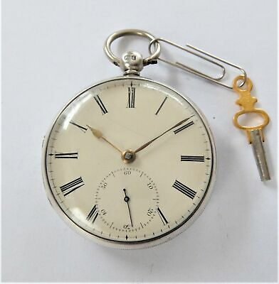 1860 Silver Cased Chain Driven Fusee Pocket Watch Tho Reynoldson Hull Working
