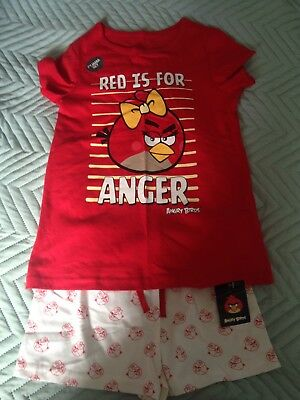 BNWT M&S Girls Angry Birds Shortie Pyjamas, Age 7-8 Years