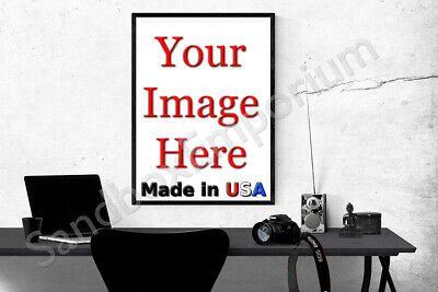 "22x28"" Custom Printed GLOSSY Poster YOUR PHOTO POSTER Image picture art"