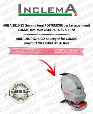 ABILA 52 Back Squeegee Rubber for Scrubber Dryer COMAC Plastic sq. from 11101112
