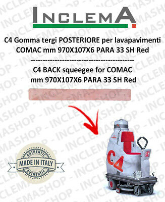C4 Back Squeegee Rubber for Scrubber Dryer COMAC