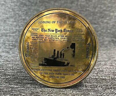 Sinking of the Titanic Compass Brand New Working Replica Solid Brass