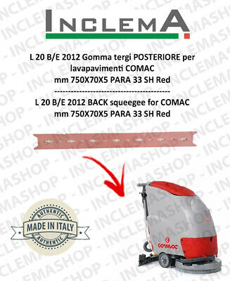 L 20 B/E 2012 Back Squeegee Rubber for Scrubber Dryer COMAC