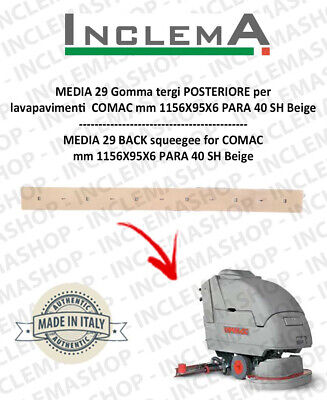 MEDIA 29 Back Squeegee Rubber for Scrubber Dryer COMAC