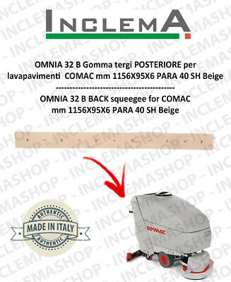 OMNIA 32 B Back Squeegee Rubber for Scrubber Dryer COMAC