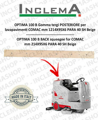OPTIMA 100 B Back Squeegee Rubber for Scrubber Dryer COMAC