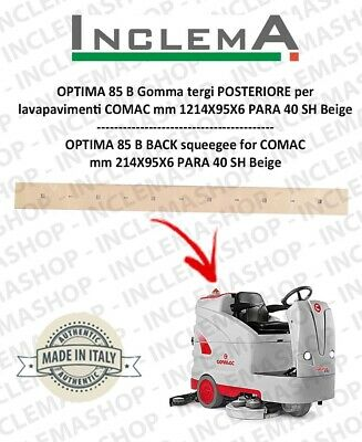 OPTIMA 85 B Back Squeegee Rubber for Scrubber Dryer COMAC