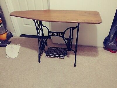 Vtg Singer Treadle Sewing Machine Ornate Cast Iron Table Base Legs Steampunk